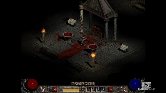 Скриншот из оригинальной Diablo II