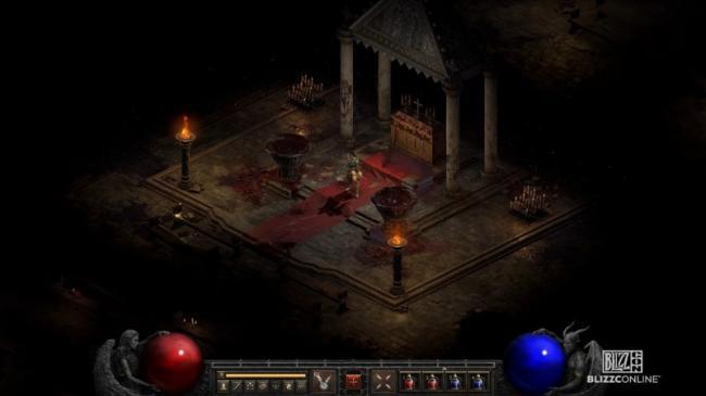 Скриншот обновлённой графики из Diablo II: Resurrected